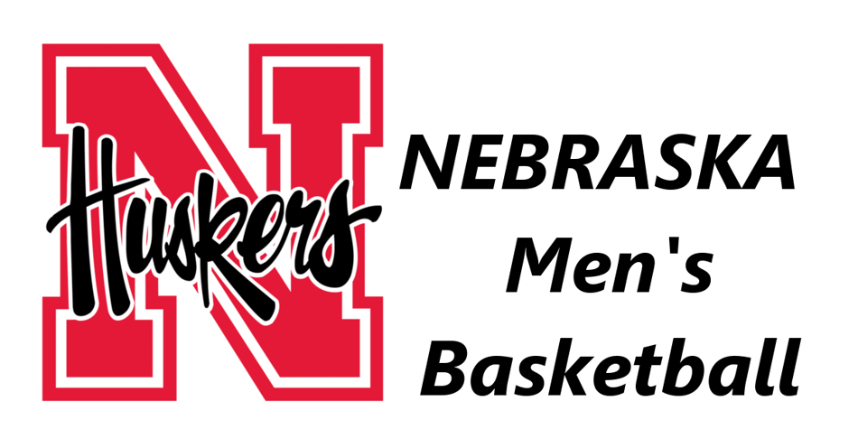 Nebraska Husker logo with the words Nebraska Basketball on the right.